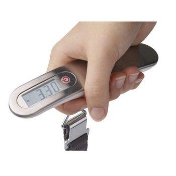 Ръчен кантар EMOS ev020, капацитет 50 кг, LCD екран, aвтоматично изключване след 1 минута, сив image