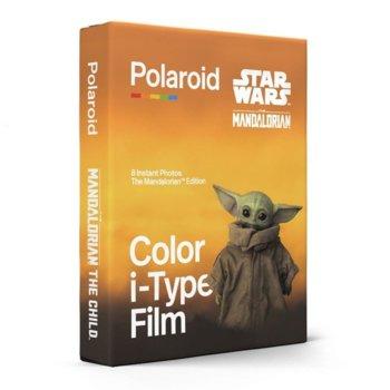 Фотохартия Polaroid Color film for i-Type – The Mandalorian Edition, 4 x 3 inch, за Polaroid Now, 8 листа image