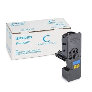 Касета за Kyocera ECOSYS M5521cdw, ECOSYS M5521cdcdn - Cyan - TK-5230C - Заб.: 2 200k image