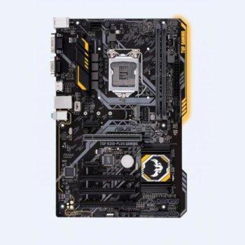 Дънна платка ASUS TUF H310-PLUS GAMING, H310, LGA1151, DDR4, PS2&D-Sub (HDMI), 4 x SATA 6Gb/s port(s), 1 x M.2 connector , 4 x USB 3.1 Gen 1, ATX image