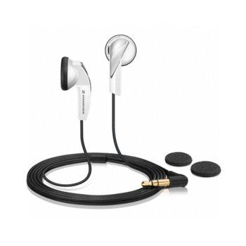 """Слушалки Sennheiser MX 365, тип """"тапи"""", динамичен бас, ъглов 3.5мм жак, 1.2м кабел, бели image"""