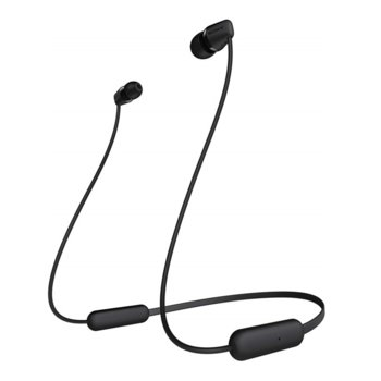 """Слушалки Sony WI-C200, микрофон, безжични, Bluetooth, до 8 часа време на работа, тип """"тапи"""", черни image"""