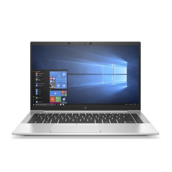 "Лаптоп HP EliteBook 840 G7 (10U64EA)(сребрист), четириядрен Comet Lake Intel Core i7-10510U 1.8/4.9 GHz, 14.0"" (35.56 cm) Full HD IPS Anti-Glare Display, (HDMI), 16GB DDR4, 512GB SSD, 2x USB 3.1 Type-C, Windows 10 Pro image"