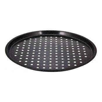 Тава за пица Klausberg KB 7442, 34 см, алуминий, мраморно покритие, черен image