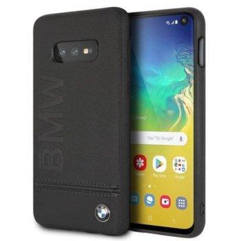 Калъф за Samsung Galaxy S10E, естествена кожа, BMW Signature Genuine Leather Soft BMHCS10LLLSB, черен image