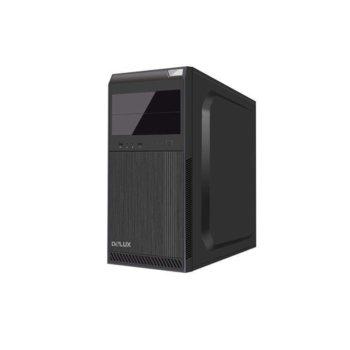 Кутия DELUX DC610, ATX/mATX, USB 3.0, черна, 400W захранване image
