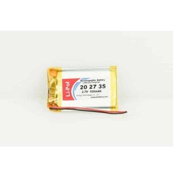 Литиева батерия LP202735-PCM, 3.7V, 40mAh, Li-polymer, 1бр., PCM защита image