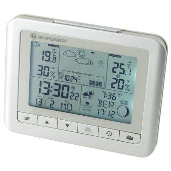 Електронна метеостанция Bresser TemeoTrend WF, вътрешна и външна температура, бяла image