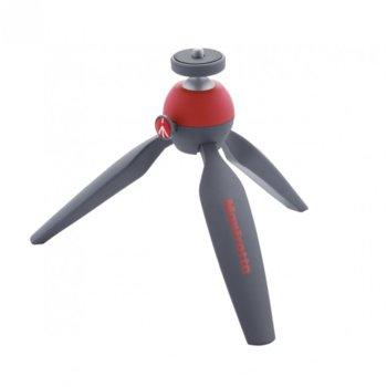 Мини трипод Manfrotto PIXI Mini, мин/макс. височина 13.5-13.5 cm, 1 кг. товароносимост, алуминий, червен image
