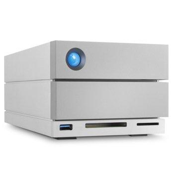 HDD докинг станция LaCie 2big RAID STGB8000400, външен, 8TB (2x 4TB), USB Type-C, USB 3.0, 2x Thunderbolt 3, DisplayPort, SD/CF reader, бяла image