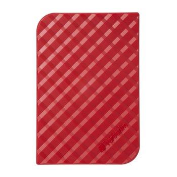 """Твърд диск 1TB, Verbatim Store'n'Go, 3.5"""" (8.89 cm), червен, външен, USB 3.0 image"""