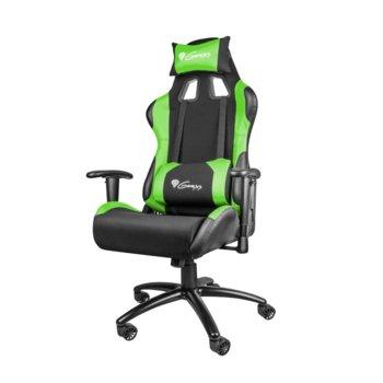 Геймърски стол Genesis Nitro 550, до 150кг. макс тегло, метална основа, черен/зелен image