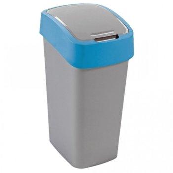 Кошче за отпадъци, с люлеещ капак, синьо image