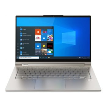 "Лаптоп Lenovo Yoga C940-14IIL (81Q9003MBM)(сребрист), четириядрен Ice Lake Intel Core i5-1035G4 1.1/3.7 GHz, 14"" (35.56 cm) Full HD IPS 400nits Glossy Multitouch Display, (Thunderbolt), 8GB, 512GB SSD, Windows 10 Home image"