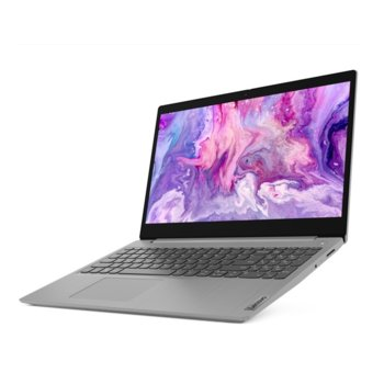 "Лаптоп Lenovo IdeaPad 3 (81W100A2RM8G256G)(сив), двуядрен AMD Ryzen 3 3250U 2.6/3.5GHz, 15.6"" (39.62 cm) Full HD Anti-Glare Display, (HDMI), 8GB DDR4, 1TB HDD + 256GB SSD, 2x USB 3.1, No OS image"