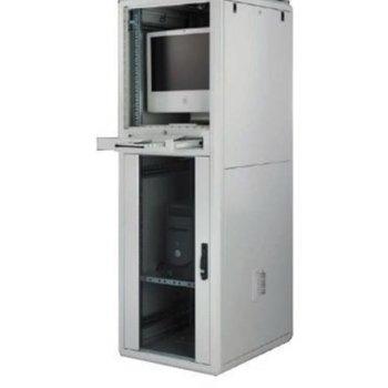 "Комуникационен шкаф Security Professionals MR.GTPC36U68.01, 19"", 42U, 600 x 800 x 1786, свободностоящ, товароносимост 600кг, секция за клавиатура и мишка, сив image"