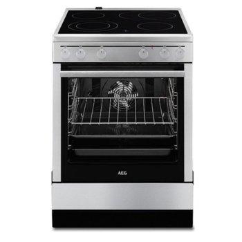 Готварска печка AEG 40016VS-MN, 4 нагревателни зони, 72л. обем, инокс image