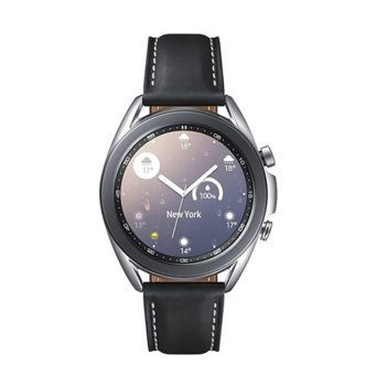 "Смарт часовник Samsung Galaxy Watch3, 41 mm, 1.2"" (30.2mm) Super AMOLED дисплей, Bluetooth, 1GB RAM, 8GB ROM, до 43 часа време на работа, сребрист image"