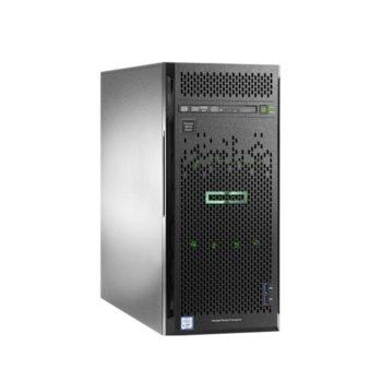 Сървър HPE ML110 G10 (P10813-421), десетядрен Cascade Lake Intel Xeon Silver 4210 2.2/3.2 GHz, 16GB RDIMM, , 2x 1GbE, 5x USB 3.0, без ОС, 1x 800W  image