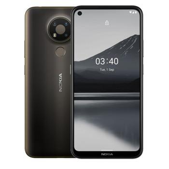 "Смартфон Nokia 3.4 (сив), 6.39"" (16.23cm), Snapdragon 460 (4x1.8 GHz & 4x1.8GHz), 3GB RAM, 64GB Flash памет, 13.0 + 5.0 + 2.0 + 8.0 Mpix камера, Android, 180g image"