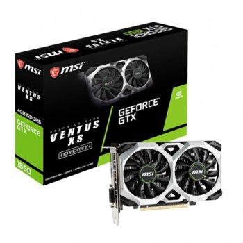 Видео карта Nvidia GeForce GTX 1650, 4GB, MSI GTX1650 D6 VENTUS XS OC, PCI-E 3.0, GDDR6, 128bit, DisplayPort, HDMI, DVI image