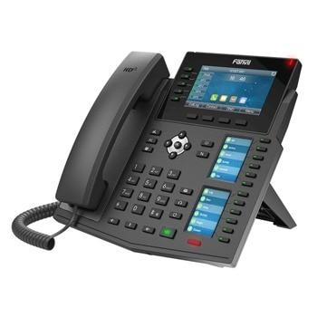 "VoIP телефон Fanvil X6U, 20 SIP акаунта, 4.3"" (10.92 cm) 480x272 цветен дисплей, 2x 10/100/1000 Mbps LAN порта, PoE, черен image"