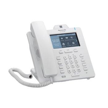 "VoIP телефон Panasonic KX-HDV430, 4.3"" (10.92 cm) цветен LCD сензорен дисплей, Bluetooth 2.1, 16 линии, PoE, 2x LAN1000, HD Voice, връзка с IP камера, бял image"