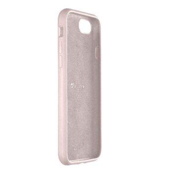 Калъф за Apple iPhone 7/8, силикон и велур, Cellular Line Sensation, розов image