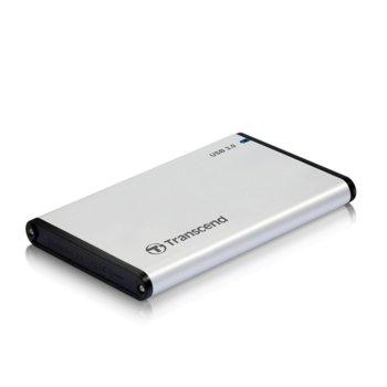 "Кутия 2.5"" (6.35 cm) Transcend StoreJet SATA, USB3.0, алуминиев корпус image"