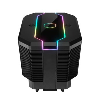 Охлаждане за процесор Cooler Master MasterAir MA620M ARGB, съвместимост със LGA 2066/2011-v3/2011/1151/1150/1155/1156 & AM4, AM3+, AM3, AM2+, AM2, FM2+, FM2, FM1 image