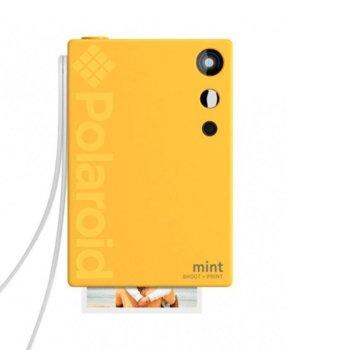 Фотоапарат Polaroid Mint, 16.0 Mpix, MicroSD слот, Zero Ink технология, Bluetooth, жълт image