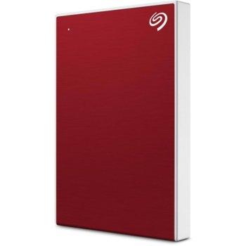 """Твърд диск 1TB Seagate Backup Plus Slim (червен), външен, 2.5"""" (6.35 cm), USB 3.0 image"""