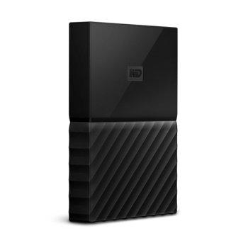"""Твърд диск 2TB Western Digital My Passport WDBLPG0020BBK(черен), 2.5"""" (6.35 cm), USB 3.0, предназначен за Mac image"""