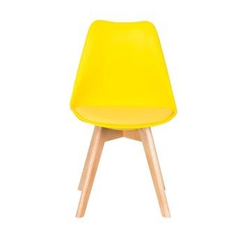 Трапезен стол Carmen 9958, полипропилен, еко кожа, жълт image