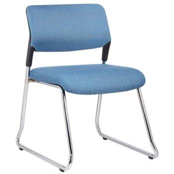 Посетителски стол RFG Evo 4S M (ON4010100287), дамаска, 120 кг. максимално натоварване, син image
