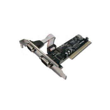 Adapter PCI към 2x Serial RS232 port, 17451 image