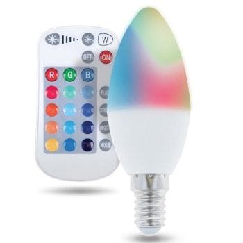 LED крушка Forever RTV003565, E14, C37, 5W, 250 lm, 3000K, RGB, дистанционно image