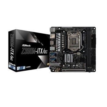 Дънна платка Asrock Z390M-ITX/AC, Z390, LGA1151, PCI-E (HDMI, DP), 6x SATA 6Gb/s, 1x Ultra M.2 Socket, USB 3.1 Gen2 Type-C, Wi-Fi, Bluetooth, Mini-ITX image