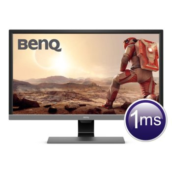 "Монитор BenQ EL2870U (9H.LGTLB.QSE), 28"" (71.12 cm) TN панел, 4K/UHD, 1ms, 12M:1‎, 300cd/m2, DisplayPort, HDMI image"