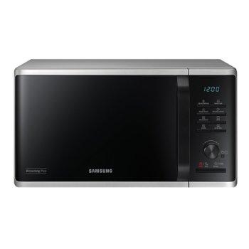 Микровълнова фурна Samsung MG23K3515AS/OL, с грил, електронно управление, 800 W, 23 л. обем, 6 степени на мощност, сребриста image