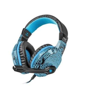 Слушалки Fury Hellcat NFU-0863, микрофон, геймърски, сини image