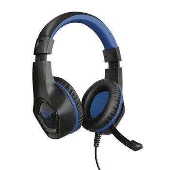 Слушалки TRUST GXT404B Rana, микрофон, PS4, AUX, черни image