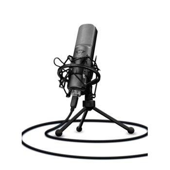 Микрофон Trust GXT 242 Lance, с стойка, сив image