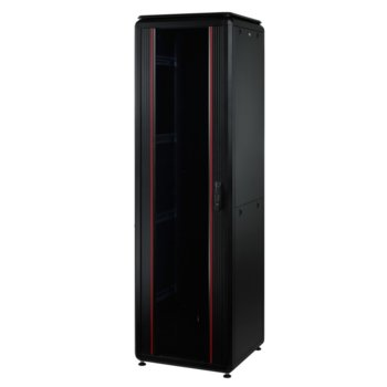 "Комуникационен шкаф Mirsan MR.GTV22U68.01, 19"", 22U, 610 x 800 x 1039, свободностоящ, товароносимост 1000кг, черен image"