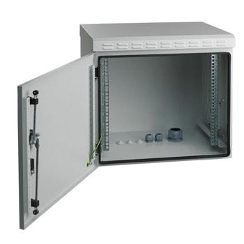 Комуникационен шкаф Mirsan MR.IP55W07U45.03, 7U, 600 x 450 x 410, товароносимост 100кг, бял, за стена, Outdoor image