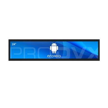 "All in One компютър ProDVX APPC-24UW, четириядрен Cortex A17 1.6 GHz, 24"" (60.96 cm) Full HD (1920x360) LED Display & MALI T764, 2GB DDR3, 16GB Flash ROM, USB 2.0, Android 6.0 image"