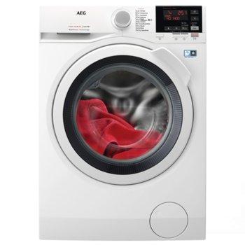 Пералня със сушилня AEG L7WBG47W, клас C/E, 7 кг. капацитет пералня/4 кг. капацитет сушилня, 1400 оборота в минута, 10 програми, свободностояща, 60 cm. ширина, бяла image
