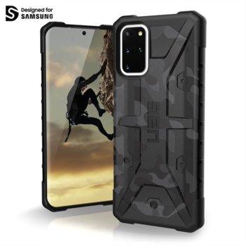 Калъф за Samsung Galaxy S20 Plus, хибриден, Urban Armor Pathfinder SE Camo 211987114061, удароустойчив, тъмносив камуфлаж image