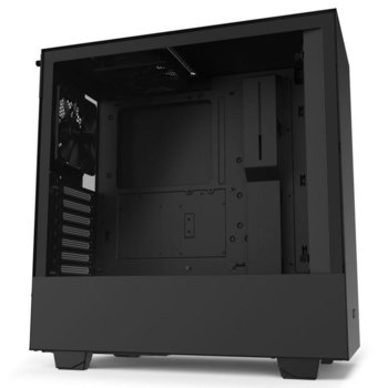 Кутия NZXT H510 Matte Black (CA-H510B-B1), ATX/Micro ATX/Mini ITX, 1x USB 3.1 Gen 2 Type-C / 1x USB 3.1 Gen 1 Type-A, черна, без захранване image