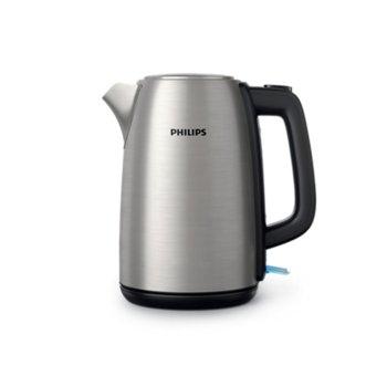Електрическа кана Philips HD9351/91, вместимост 1,7 л., aвтоматично изключване, предпазване срещу прегаряне, 2200W, инокс image
